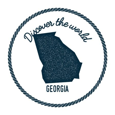 Georgia Vintage Map Stock Photos Pictures Royalty Free Georgia - Georgia map label