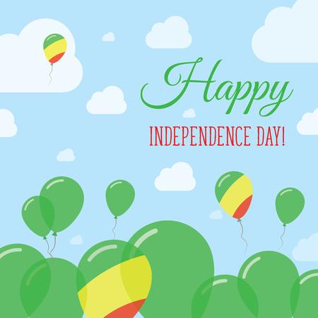 Congo Independence Day Flat Patriotic Design Congolese Flag - Congo independence day