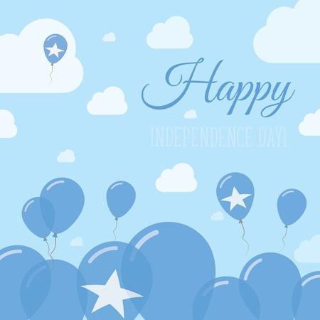 Somalia Independence Day Flat Patriotic Design. Somali Flag Balloons. Happy National Day Vector Card.