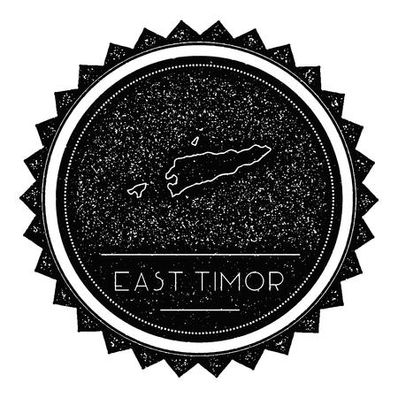 TimorLeste Vector Map Retro Vintage Insignia With Country Map - East timor seetimor leste map vector