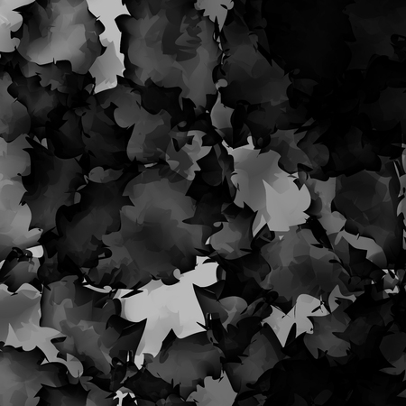 Dark black and white watercolor texture background. Comely abstract dark black and white watercolor texture pattern. Expressive messy vector illustration.