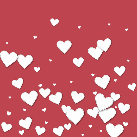 scatters: Cutout white paper hearts.