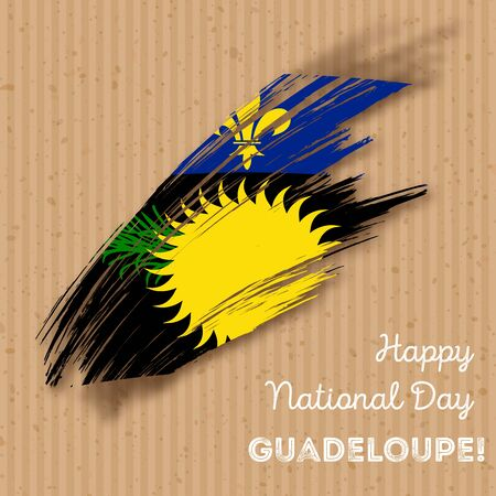 Guadeloupe Independence Day Patriotic Design.