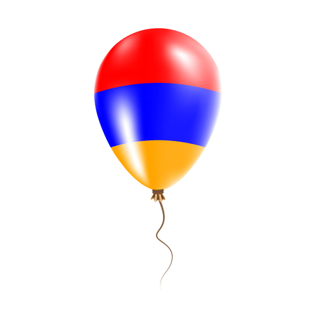 Armenia balloon with flag. Bright Air Ballon in the Country National Colors. Country Flag Rubber Balloon. Vector Illustration.