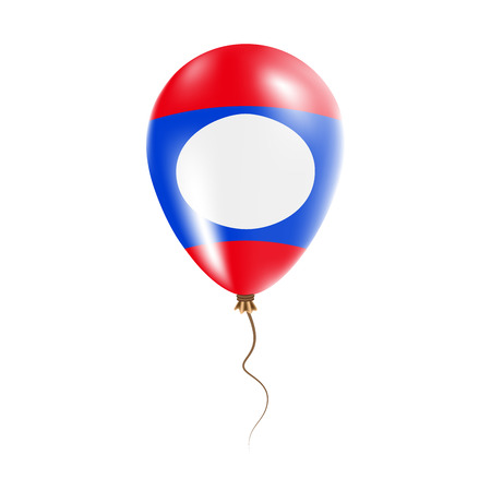Lao Peoples Democratic Republic balloon with flag. Bright Air Ballon in the Country National Colors. Country Flag Rubber Balloon. Vector Illustration.