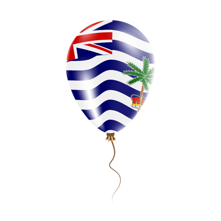 British Indian Ocean Territory balloon with flag. Bright Air Ballon in the Country National Colors. Country Flag Rubber Balloon. Vector Illustration.