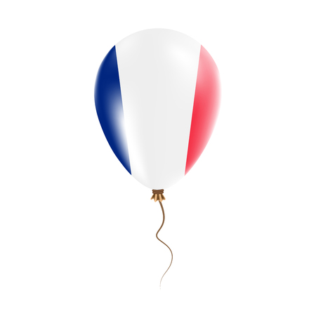 Wallis and Futuna balloon with flag. Bright Air Ballon in the Country National Colors. Country Flag Rubber Balloon. Vector Illustration. Illustration