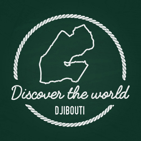 White Chalk Texture Hipster Insignia With Republic Of South Africa - Republic of djibouti map
