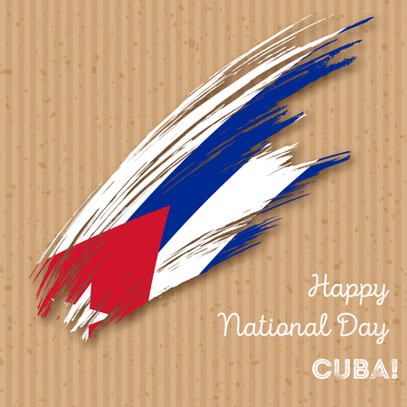 Cuba Independence Day patriotic design good for greeting cards. Illustration