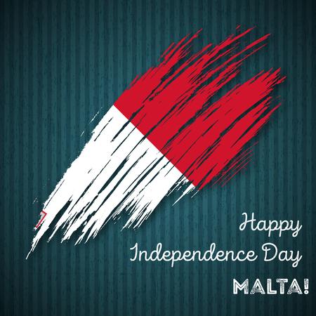 malta: Malta Independence Day Patriotic Design. Illustration