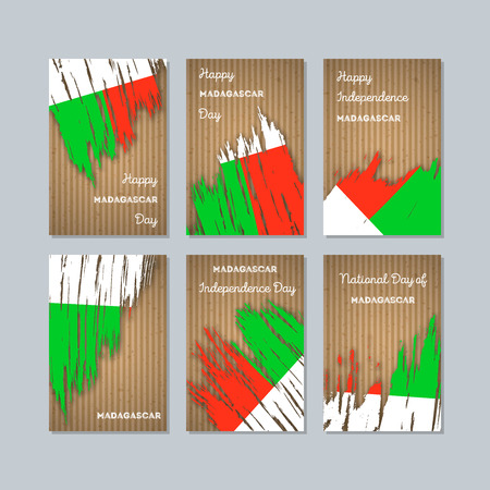 Madagascar patriotic cards for national day.