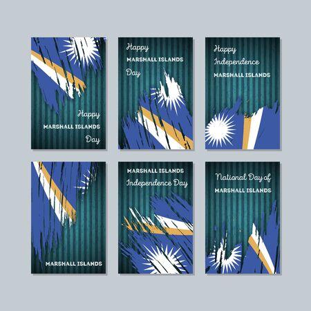 マーシャル諸島共和国ナショナルデーの愛国心が強いカード。  イラスト・ベクター素材