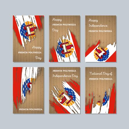 polynésie française cartes patriotique pour la journée nationale .