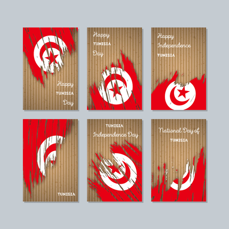 Tunisia patriotic cards for national day.