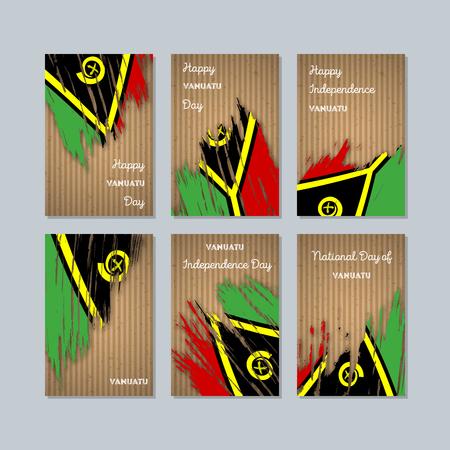Vanuatu patriotic cards for national day. Иллюстрация
