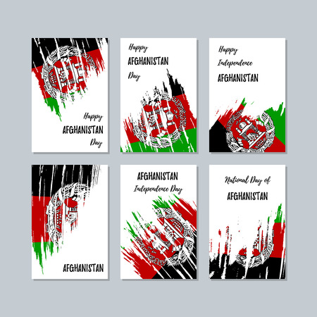 Afghanistan patriotic cards for national day.