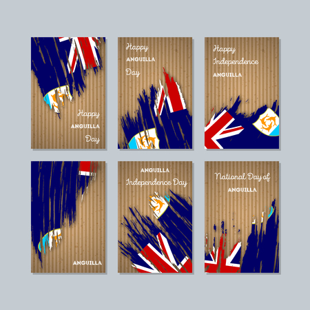 Anguilla patriotic cards for national day. Иллюстрация