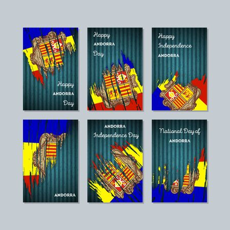 Andorra patriotic cards for national day.