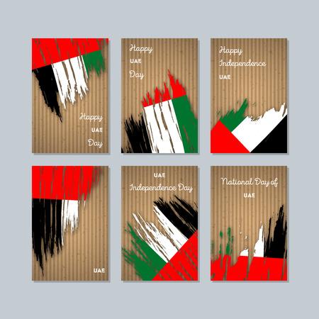 UAE patriotic cards for national day. Иллюстрация