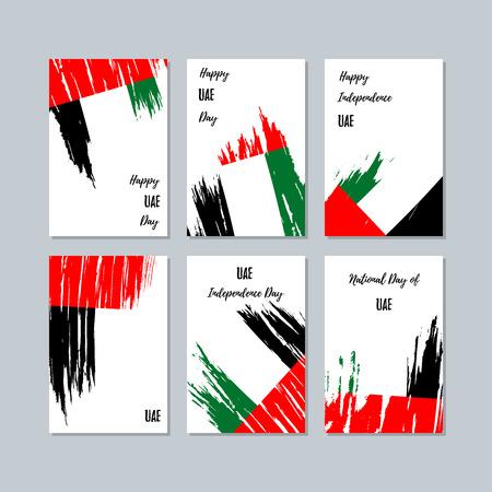 UAE patriotic cards for national day. Illustration