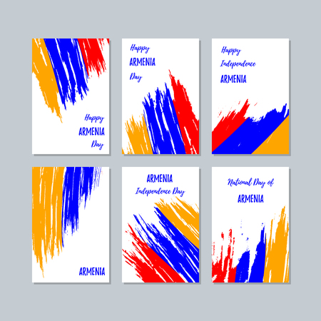 Armenia patriotic cards for national day.