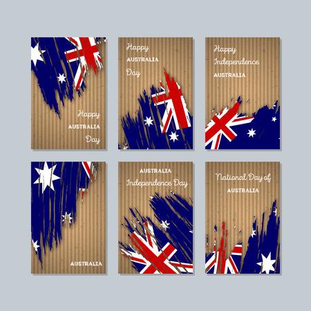 Australia patriotic cards for national day. Иллюстрация