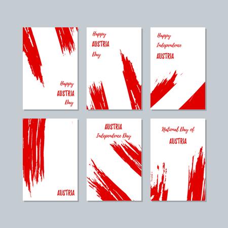 Austria patriotic cards for national day. Иллюстрация