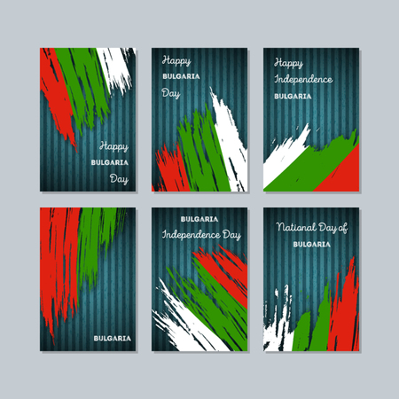 Bulgaria patriotic cards for national day.