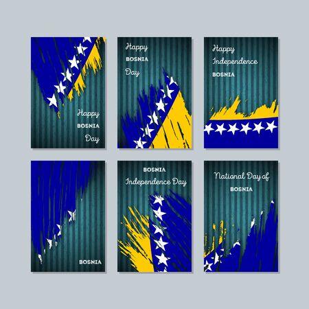 De patriottische kaarten van Bosnië voor nationale dag.