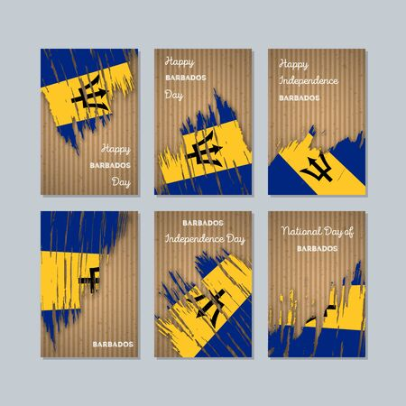 Expressive brush strokes of Barbados Patriotic Cards for National Day.