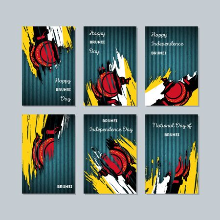 Expressive brush strokes of Brunei Patriotic Cards for National Day.