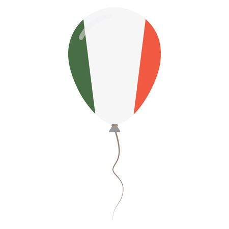 Italian Republic national colors isolated balloon on white background. Independence day patriotic poster. Flat style National day vector illustration. Ilustração