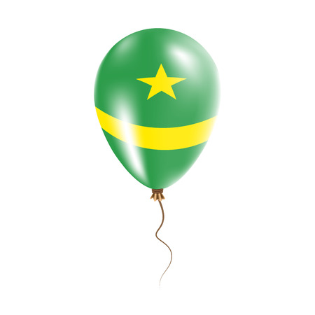 parliament: Mauritania balloon with flag. Bright Air Ballon in the Country National Colors. Country Flag Rubber Balloon. Vector Illustration.