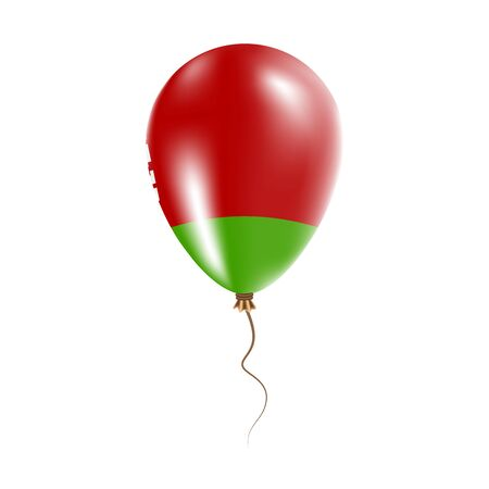 parliament: Belarus balloon with flag. Bright Air Ballon in the Country National Colors. Country Flag Rubber Balloon. Vector Illustration.