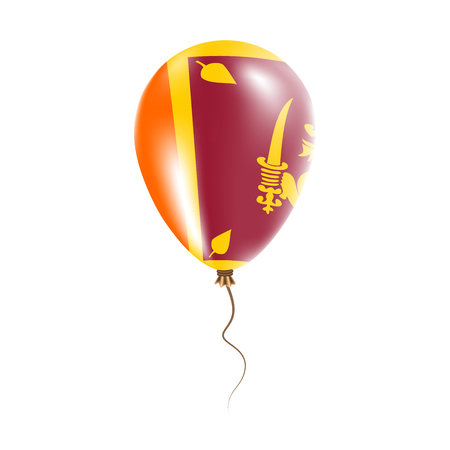 Sri Lanka balloon with flag. Bright Air Ballon in the Country National Colors. Country Flag Rubber Balloon. Vector Illustration.