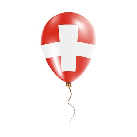 Switzerland balloon with flag.