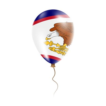 American Samoa balloon with flag.