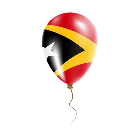 Timor-Leste balloon with flag.