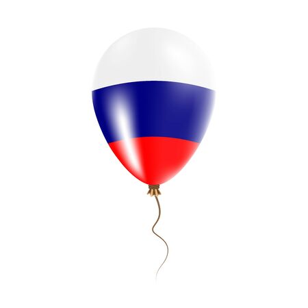 Russian Federation balloon with flag. Bright Air Ballon in the Country National Colors. Country Flag Rubber Balloon. Vector Illustration. Illustration