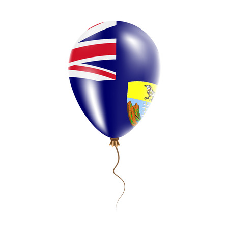 Saint Helena balloon with flag. Bright Air Ballon in the Country National Colors. Country Flag Rubber Balloon. Vector Illustration.