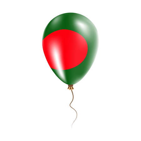 Bangladesh balloon with flag. Bright Air Ballon in the Country National Colors. Country Flag Rubber Balloon. Vector Illustration.