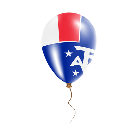 French Southern Territories balloon with flag. Bright Air Ballon in the Country National Colors. Country Flag Rubber Balloon. Vector Illustration.