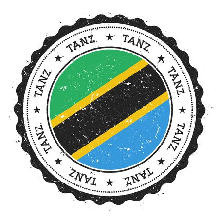 Rubber stamp with Tanzania flag.