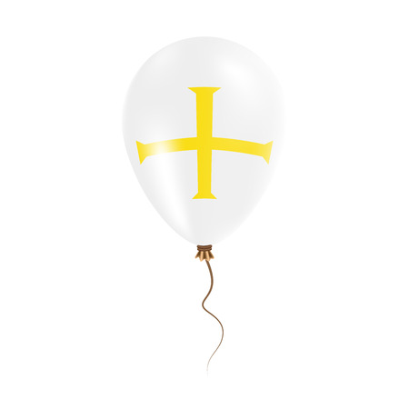 guernsey: Guernsey balloon with flag. Bright Air Ballon in the Country National Colors. Country Flag Rubber Balloon. Vector Illustration.