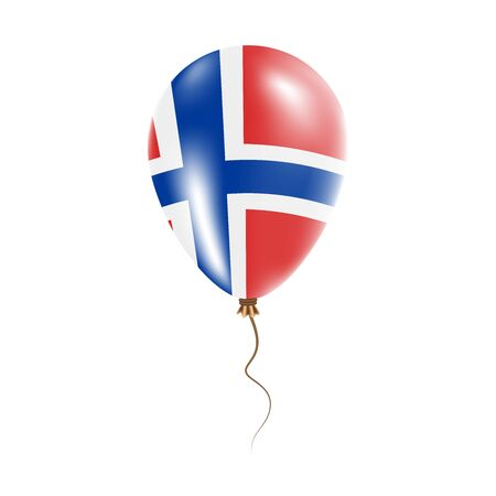 Bouvet Island balloon with flag. Bright Air Ballon in the Country National Colors.