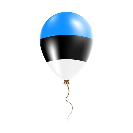 Estonia balloon with flag. Bright Air Ballon in the Country National Colors. Country Flag Rubber Balloon. Vector Illustration.