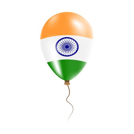 India balloon with flag. Illustration