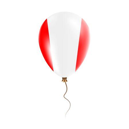 Peru balloon with flag.