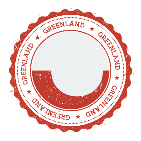 nationalist: Grunge rubber stamp with Greenland flag