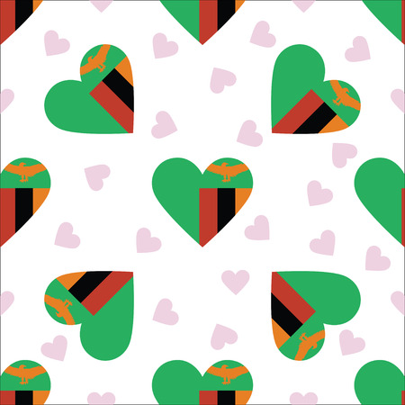 Zambia independence day pattern. Illustration